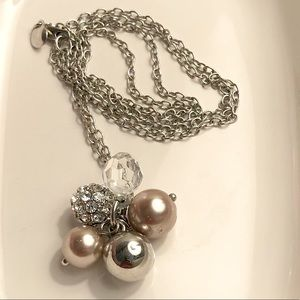 J CREW 🤍 Silver Ball Cluster Necklace